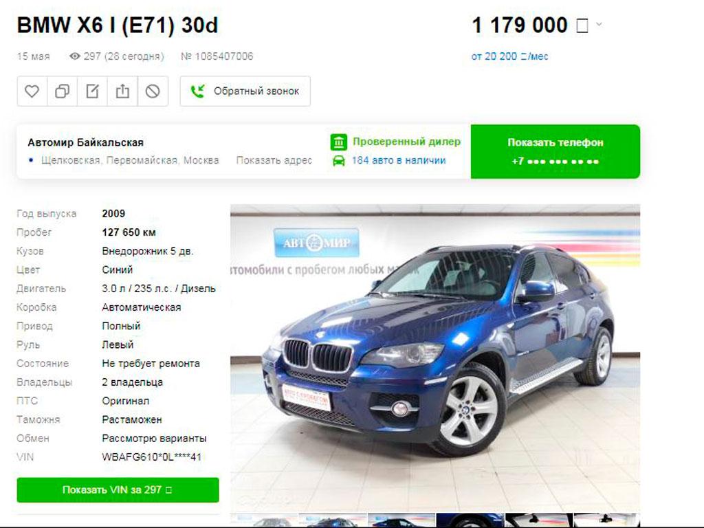 BMW X6 история продаж!